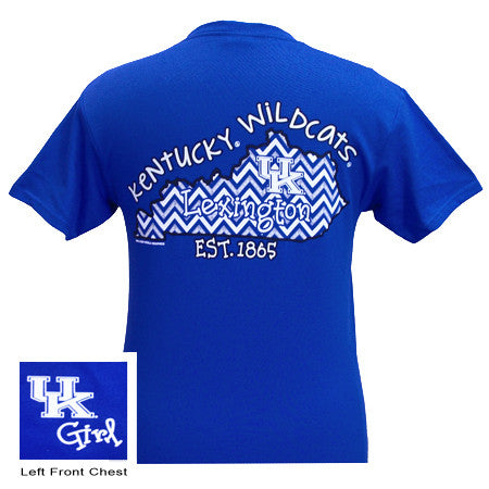 SALE UK Kentucky Wildcats Chevron State Girlie Bright T Shirt