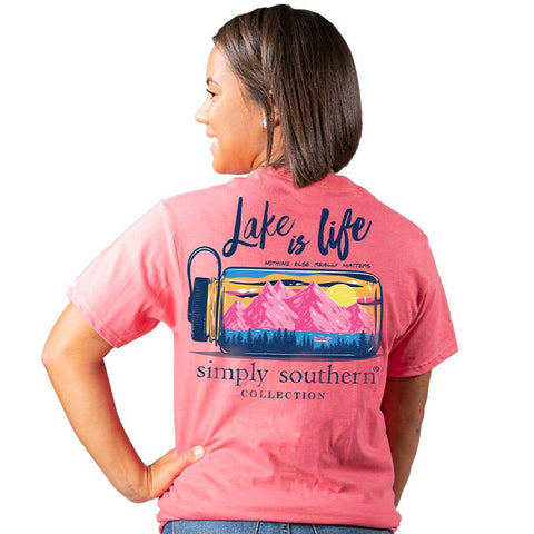 Simply Southern Preppy Lake Is Life T-Shirt