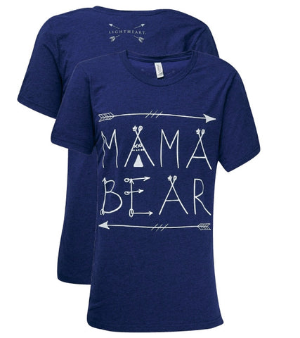 Southern Couture Lightheart Mama Bear Front Print Triblend T-Shirt