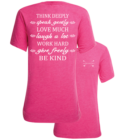 Southern Couture Lightheart Think Deeply Triblend Back Print T-Shirt - SimplyCuteTees