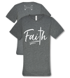 Southern Couture Lightheart Faith Christian Triblend Front Print T-Shirt