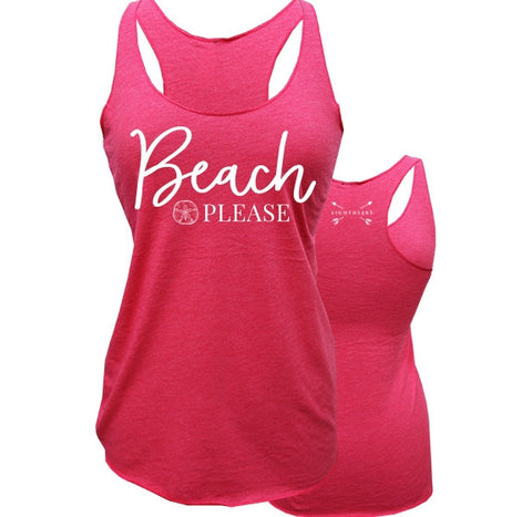 Southern Couture Lightheart Beach Please Tank Top