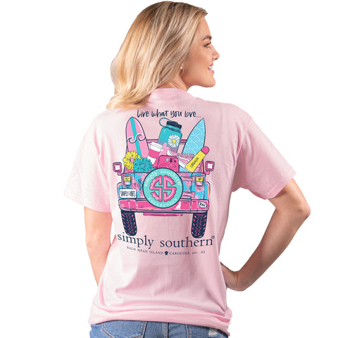 Simply Southern Preppy VSCO Live Love Jeep T-Shirt