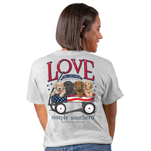 Simply Southern USA Love One Another Dog Unisex T-Shirt