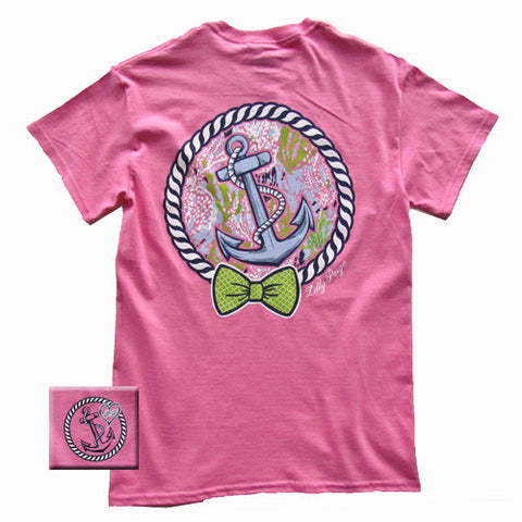Lilly Paige Preppy Pink Anchor Bow Heart Bjaxx Southern Girlie Bright T Shirt - SimplyCuteTees