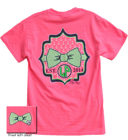 Bjaxx Lilly Paige Preppy Pattern Bow Anchor Heart Pink Girlie Bright T Shirt - SimplyCuteTees