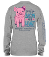 Simply Southern Preppy Bacon My Heart Pig Long Sleeve T-Shirt