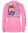Simply Southern Preppy Heart Bed Dog Long Sleeve T-Shirt