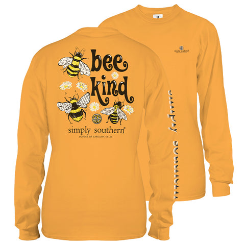 Simply Southern Preppy Bee Kind Long Sleeve T-Shirt