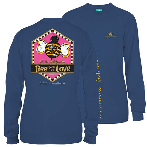 Simply Southern Preppy Bee Done In Love Long Sleeve T-Shirt