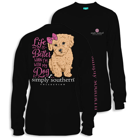 Simply Southern Preppy Life is Better with My Dog Long Sleeve T-Shirt