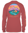 Simply Southern Preppy Camp Mountains Fall Long Sleeve T-Shirt