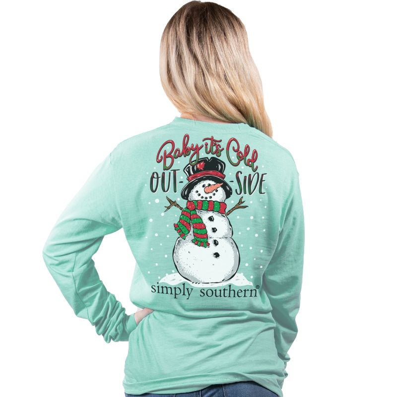 Simply Southern Baby Its Cold Outside Holiday Long Sleeve T-Shirt