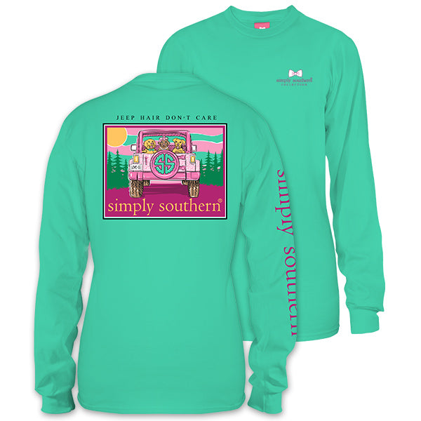 a30d21703d4 Simply Southern Preppy Jeep Hair Dont Care Long Sleeve T-Shirt ...
