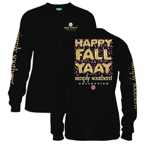 Simply Southern Preppy Happy Fall Yaay Long Sleeve T-Shirt