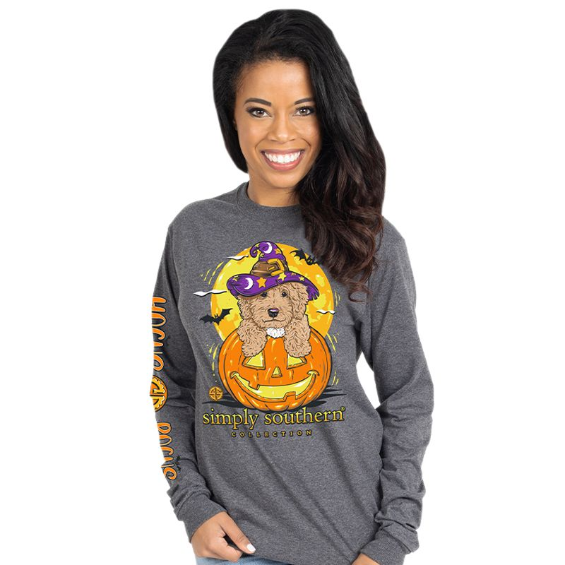 Simply Southern Hocus Pocus Dog Halloween Long Sleeve T-Shirt