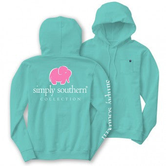 SALE Simply Southern Elephant Logo Long Sleeve Lightweight Hoodie T-Shirt