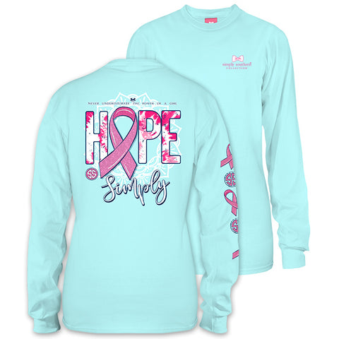 Simply Southern Preppy Hope Marine Cancer Long Sleeve T-Shirt
