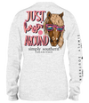 Simply Southern Preppy Just Horsin Around Horse Long Sleeve T-Shirt