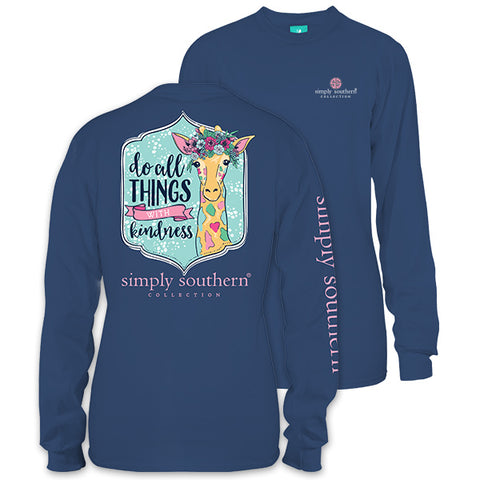 Simply Southern Preppy Kind Giraffe Long Sleeve T-Shirt
