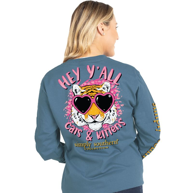Simply Southern Y'all Cats & Kittens Long Sleeve T-Shirt