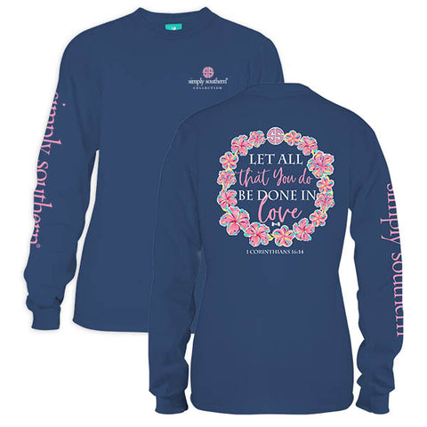 Sale Simply Southern Be Done In Love Long Sleeve T-Shirt