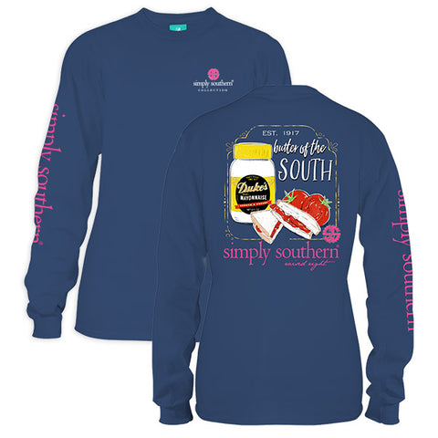 Simply Southern Preppy Dukes Better In The South Long Sleeve T-Shirt