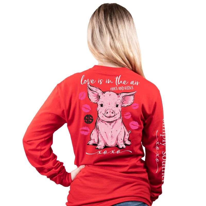 Simply Southern XOXO Love Pig Long Sleeve T-Shirt