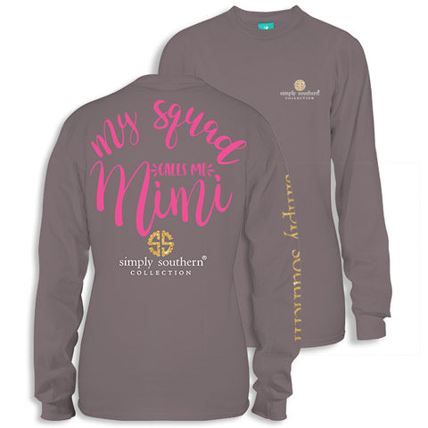 Simply Southern Preppy My Squad Mimi Long Sleeve T-Shirt