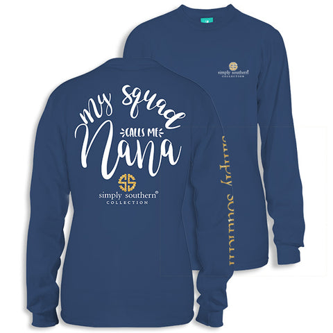 Simply Southern Preppy My Squad Nana Long Sleeve T-Shirt