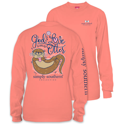 Simply Southern Preppy Otter Gods Love Long Sleeve T-Shirt