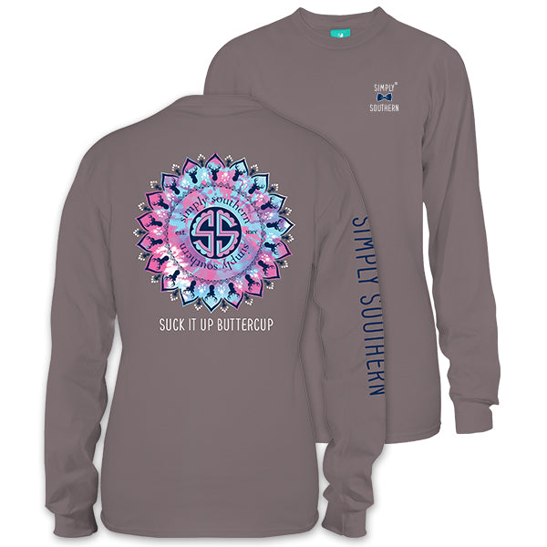 Sale Youth Simply Southern Preppy Suck It Up Buttercup Long Sleeve T-Shirt
