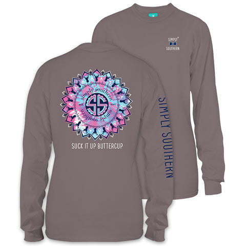 Simply Southern Preppy Suck It Up Buttercup Long Sleeve T-Shirt