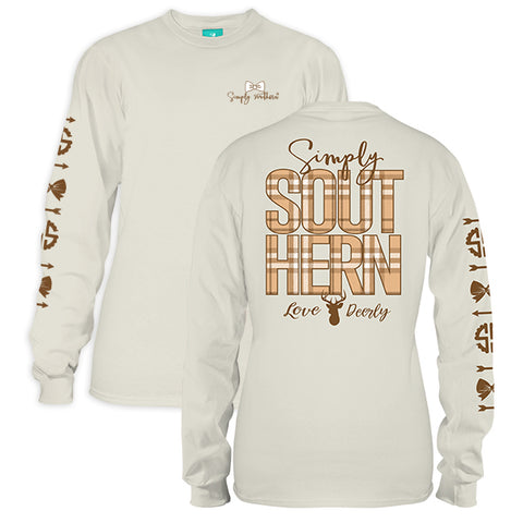 Simply Southern Preppy Love Deerly Pearl Long Sleeve T-Shirt