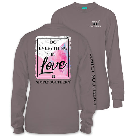 Simply Southern Preppy Do Everything In Love Long Sleeve T-Shirt
