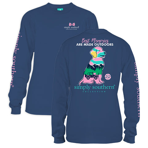 Simply Southern Preppy Best Memories Dog Long Sleeve T-Shirt