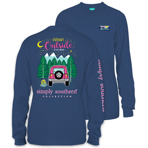 Simply Southern Preppy Think Outside Jeep Long Sleeve T-Shirt