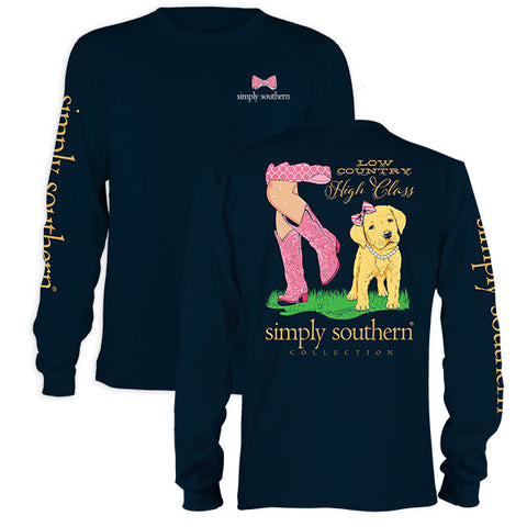 Simply Southern Preppy High Class Country Long Sleeve T-Shirt