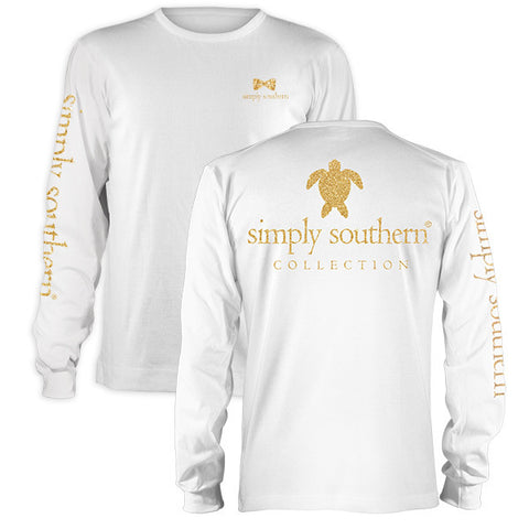 SALE Simply Southern Preppy Gold Turtle Long Sleeve T-Shirt