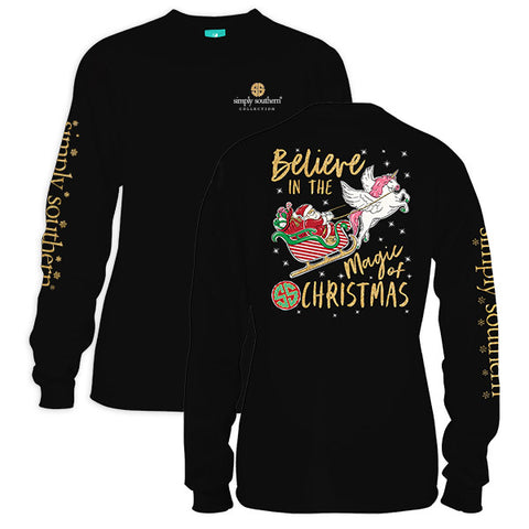 Simply Southern Preppy Magic Of Christmas Holiday Long Sleeve T-Shirt