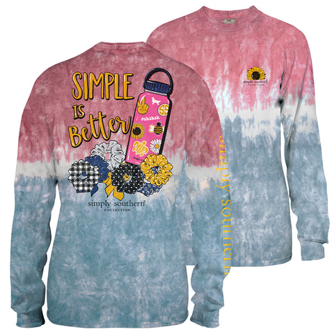 Simply Southern Simple Is Better VSCO girl Tie Dye Long Sleeve T-Shirt