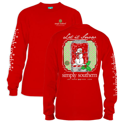 Simply Southern Preppy Let It Snow Holiday Long Sleeve T-Shirt