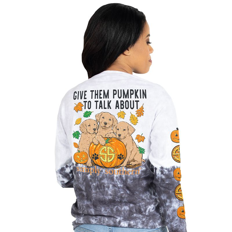 Simply Southern Pumpkin To Talk About Dog Halloween Long Sleeve T-Shirt