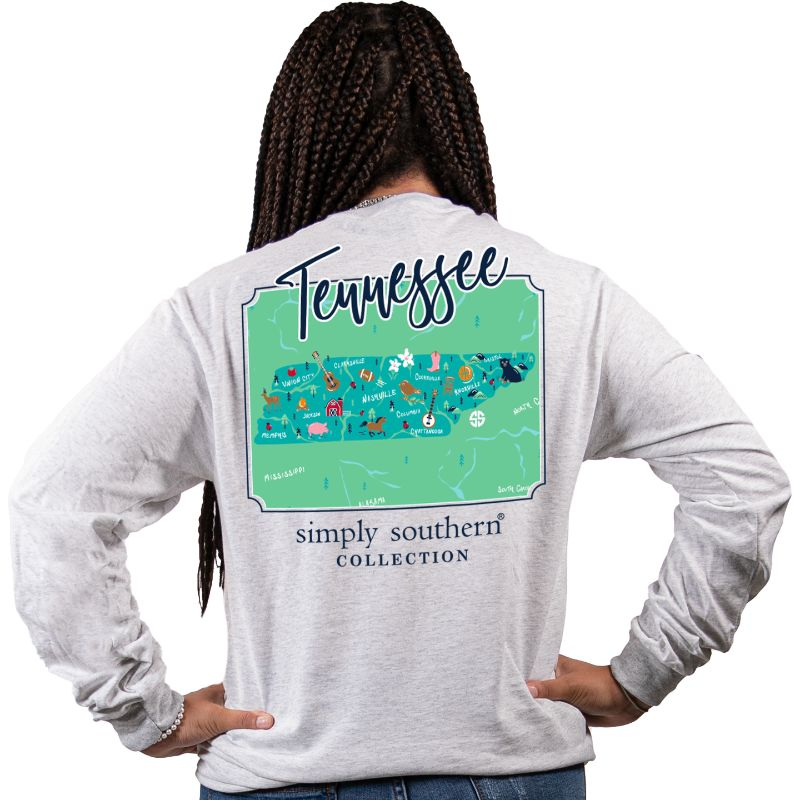 Simply Southern Tennessee State Long Sleeve T-Shirt