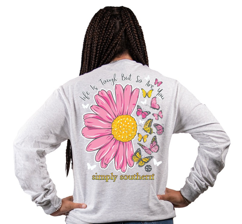 Simply Southern Life Is Tough Butterfly Long Sleeve T-Shirt