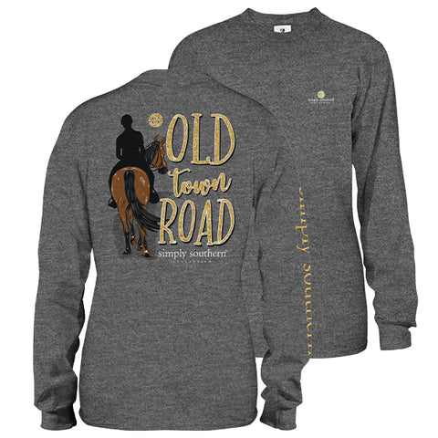 Simply Southern Preppy Old Town Road Long Sleeve T-Shirt