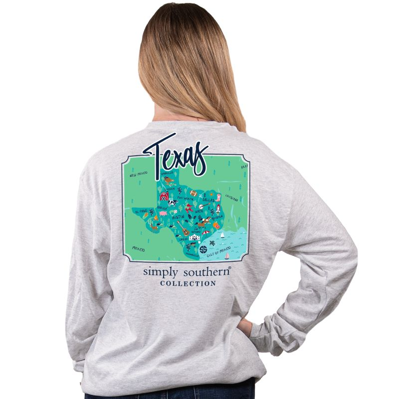 Simply Southern Texas State Long Sleeve T-Shirt