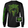 Country Life Outfitters Black & Green Camo Realtree Deer Skull Head Hunt Vintage Unisex Long Sleeve Bright T Shirt - SimplyCuteTees