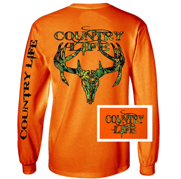 Country Life: Country Life Outfitters Orange Camo Realtree Deer Skull