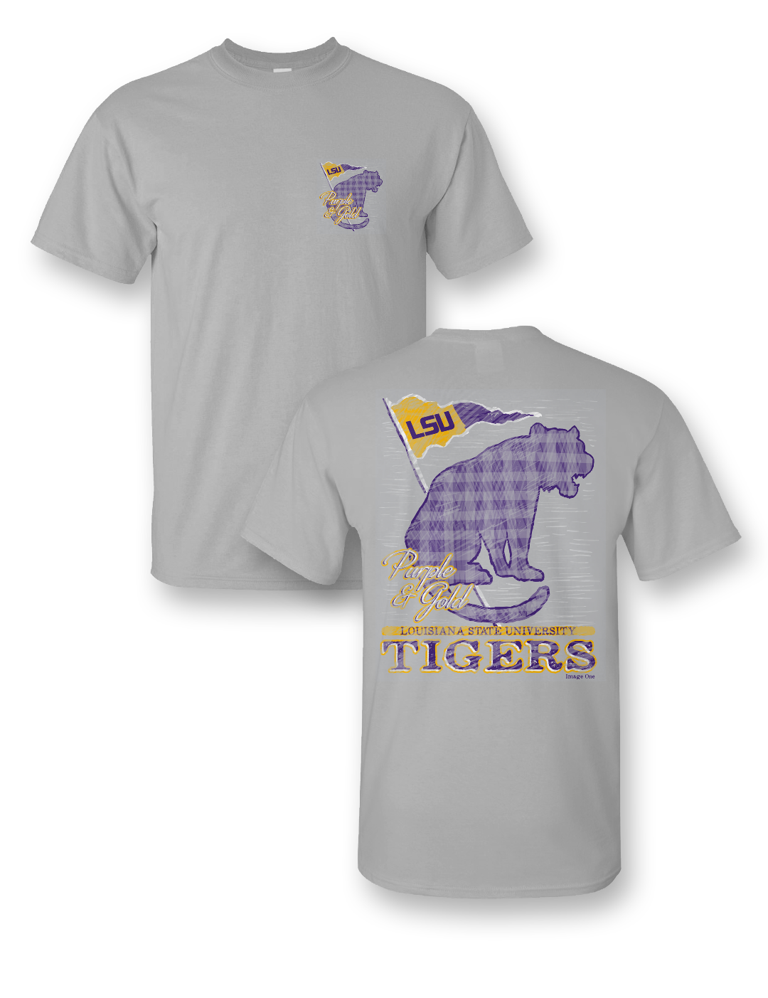 Sale Sassy Frass University of Louisiana LSU Tradition & Pride Girlie Bright T Shirt